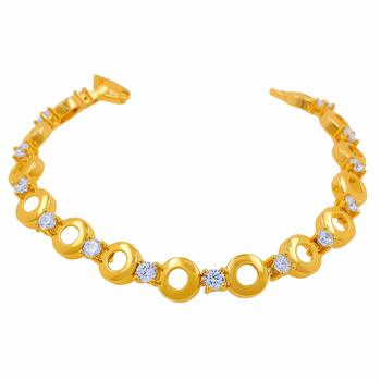 Gold Tone High Quality Diamond Bracelet With Smooth Finish For Women, Girlfriend,Girls & Wife