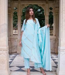 Rama gota dress with gota work dupatta and pants