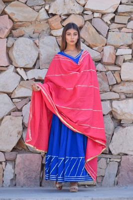 ETHNIC GOWN WITH DUPATTA