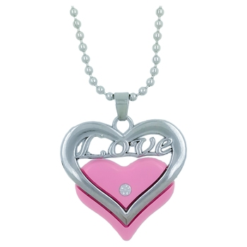 "Valentine Day & Friendship Day Special For Couple With ""Love"" Letter Design Pendant With Chain"