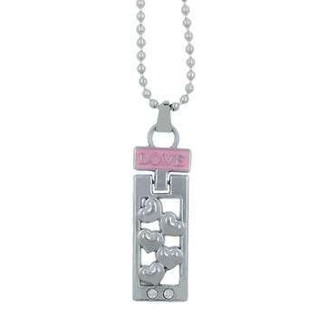 """Valentine Day & Friendship Day Special For Couple With """"Love"""" Letter Design Pendant With Chain"""