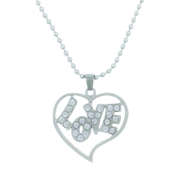 Valentine Day & Friendship Day Special For Couple With Heart Design Pendant With Chain