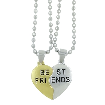 "Valentine Day & Friendship Day Special For Best Friend With ""Best Friend"" Letter Design Leather Pendant With Chain"