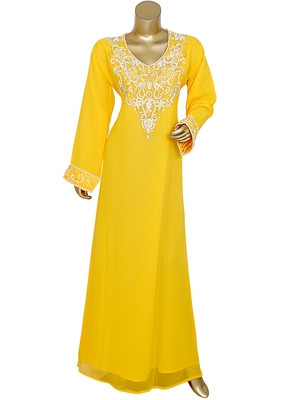 Traditional Classic Arabian Islamic Kaftan Gown Maxi Caftan Abaya