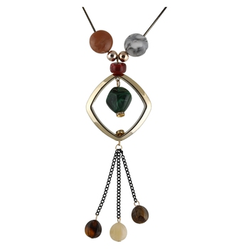 Fashion Alloy Multicolour Beads Necklace For Women, Girlfriend,Girls & Wife
