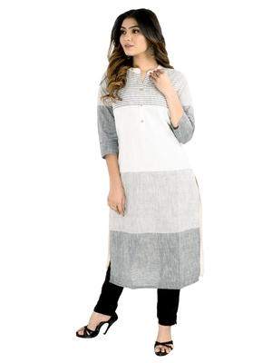 Grey printed cotton kurtis