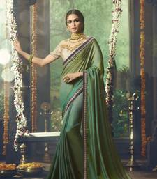 Buy Light green embroidered art silk saree with blouse designer-embroidered-saree online
