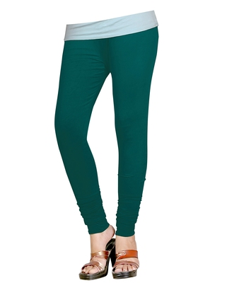 DarkCyan Cotton Churidar Leggings for Women's and Girl's (Free Size)