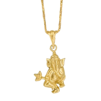 Goldplated Ganesha Ganpati Pendant For Unisex