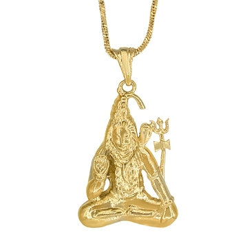 GoldPlated Shiv Shankar Pendant for Unisex
