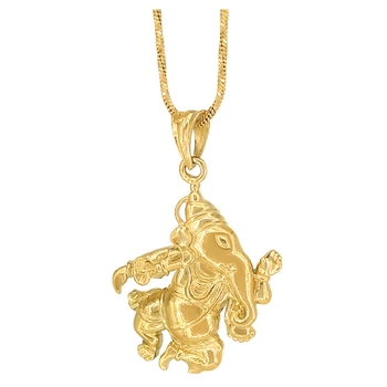 Goldplated Ganesha Ganpati Pendant For Unisex