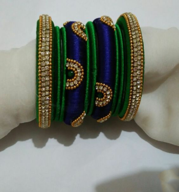 Green bangles-and-bracelets