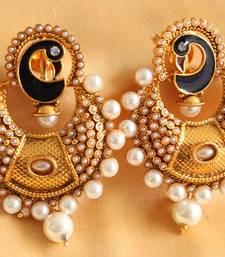 Gorgeous Pearl Peacock Bali Earrings