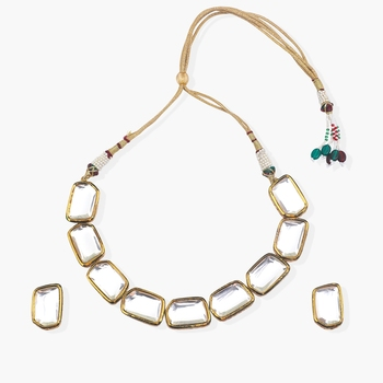 Big Kundan Statement Choker With Matching Studs