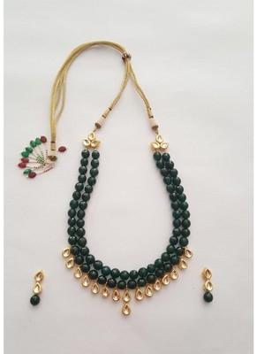 Emerald Kundan Set