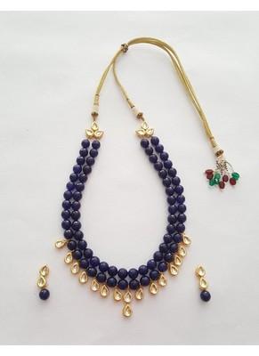 Blue Kundan Set