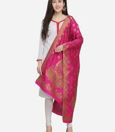 Rani Pink Banarasi Silk Women's Dupatta