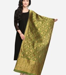 Mehendi Banarasi Silk Women's Dupatta