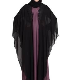 Dubai Black Designer patch kaftaan  abaya