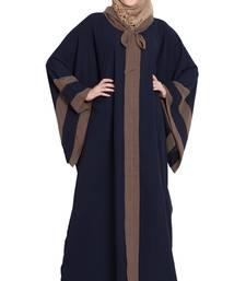 Navy-blue plain kashibo abaya