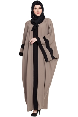 Beige Designer kaftaan kashibo abaya