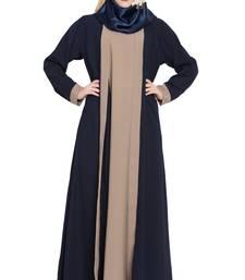 Navy-blue Shrug style kashibo abaya