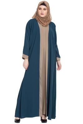 Blue plain kashibo abaya