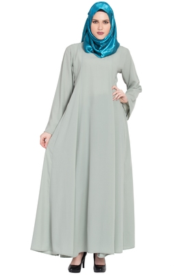 Light-green plain kashibo abaya
