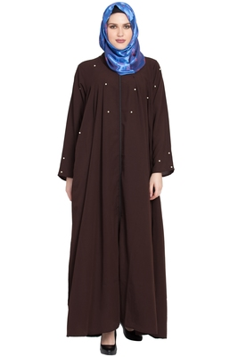 Coffee plain kashibo abaya