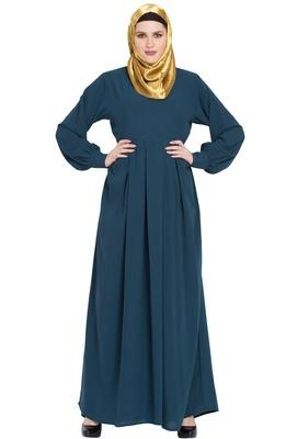 Teal plain kashibo abaya