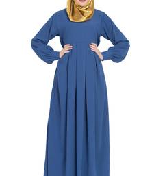 Royal-blue plain kashibo abaya