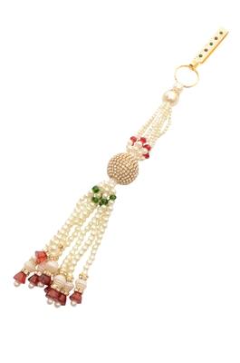 White diamond key chain
