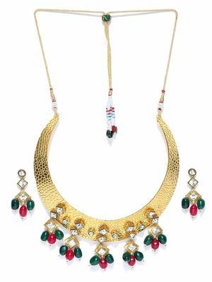La Trendz Designer Gold Necklace Set For Women