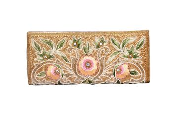 Reg Zine Made Multi Color Clutch With Embroidery Work