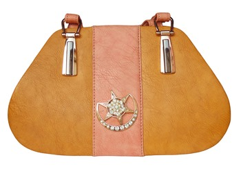 Peach Color PU Sling Bag For Women's & Girls