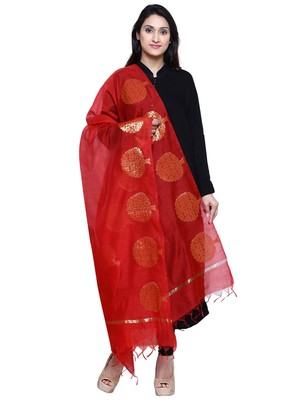 Women's Banarasi Cotton Silk Chanderi Jacquard Dupatta