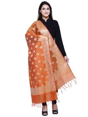 Women's Banarasi Cotton Silk Chanderi Jacquard Dupatta