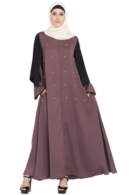 Brown Plain Nida Abaya