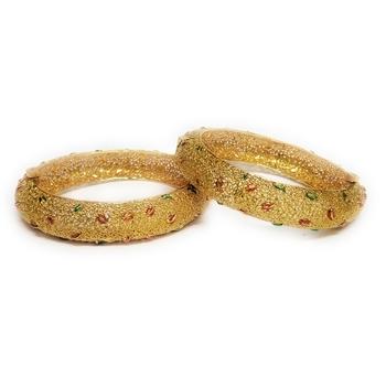 La Trendz Classy Gold Plated Bangles For Women
