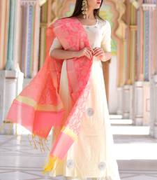 Yellow solid rayon stitched salwar with dupatta