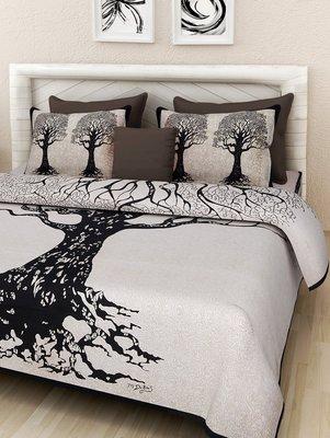 Sanganeri Cotton Bedsheet Bedspread Hand Screen Printed Bedding Bedspread  Queen Size