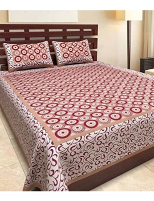 Handmade Cotton Bedding Bedspread Bedsheet With 2 Pillow Cover Queen Size 90 X 108 inches