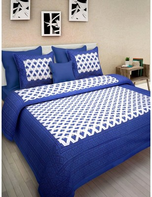 Cotton Bedsheet With 2 Pillow Cover Bedding Bedspread  Queen Size 90 X 108 inches