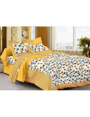 Cotton Printed Bedding Bedspread Bedsheet With 2 Pillow Cover Queen Size 90 X 108 inches Handmade