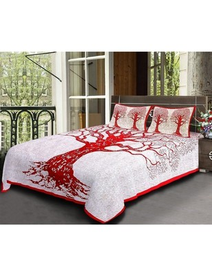Handmade Cotton Bedding Bedsheet With 2 Pillow Cover Queen Size 90 X 108 inches