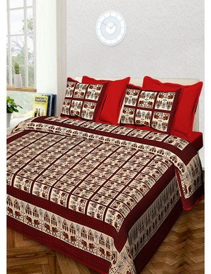 Handmade Cotton Bedding Bedsheet With 2 Pillow Cover 90 X 108 inches