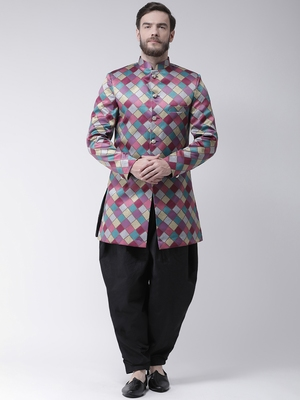 Multicolor  Printed Polyester Indo Western Dresses