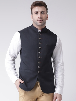 Blue plain cotton poly