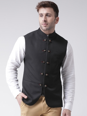Black plain cotton poly