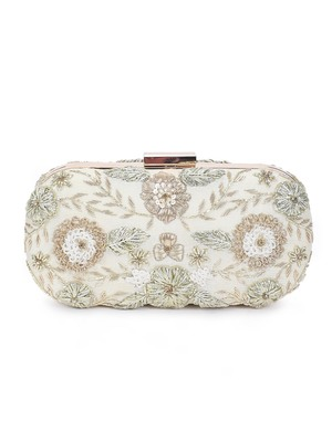 Angelic gold clutch